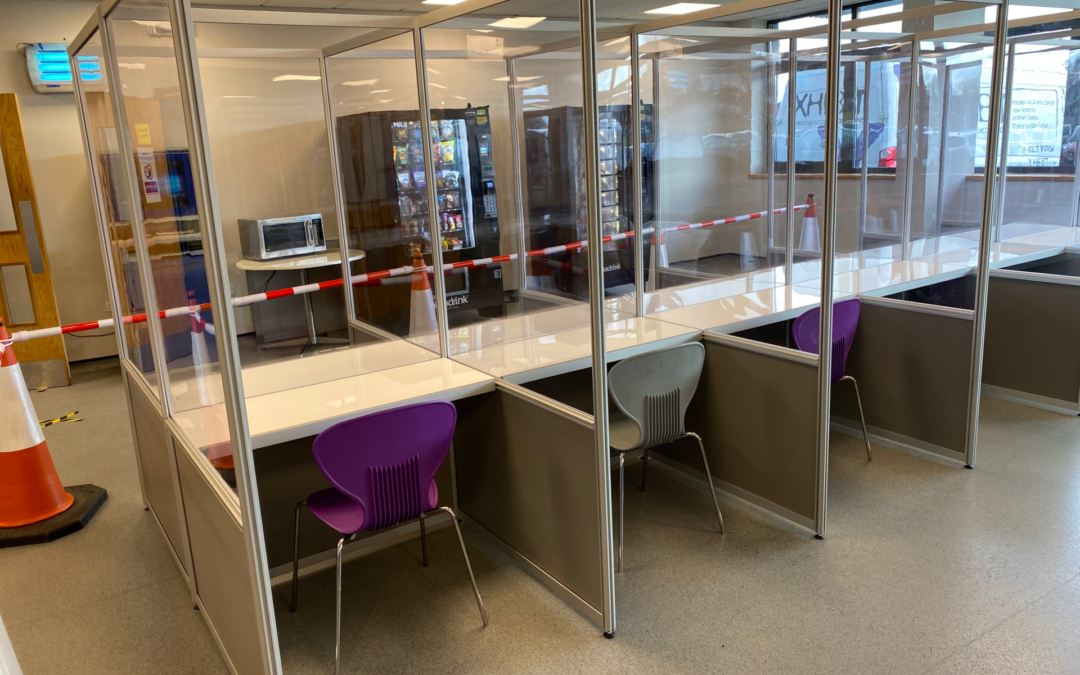 COVID Secure Canteen Cubicles at HydraForce
