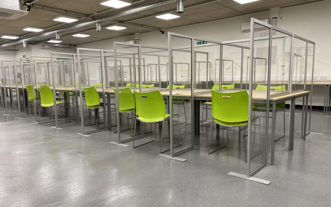 COVID screens at Google Construction Site, Kings Cross